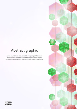 Falling Gems Abstract Background. Eps10 Vector illustration. Ilustrace