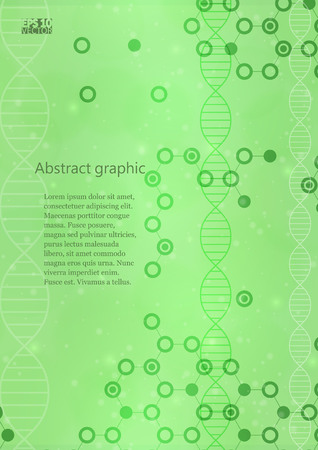 Abstract molecules medical background. Eps10 Vector illustration.