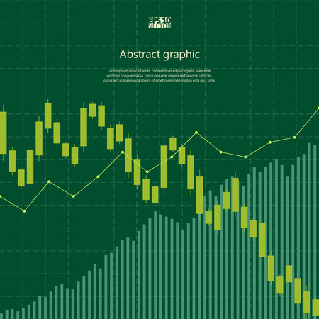 Abstract background with stock graph. Eps10 Vector illustration.