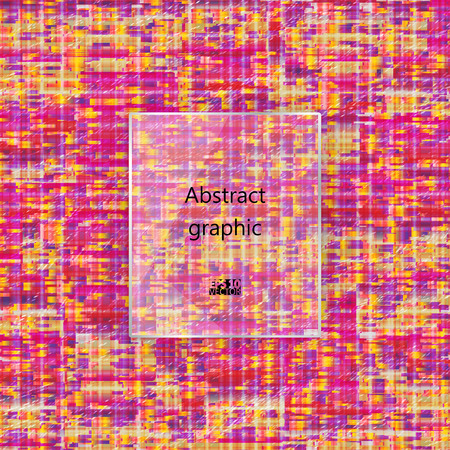 Geometric glitch abstract background. Vector illustration.