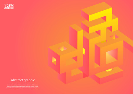 Abstract background with impossible figure. Eps10 vector illustration. Ilustração