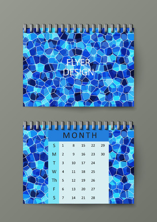 Brochure template with abstract background. Abstract square pixel mosaic background. Eps10 Vector illustration