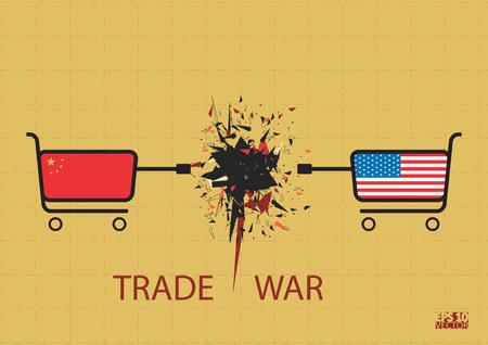 Trade war concept. Eps10 Vector illustration.