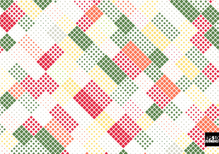 Abstract square pixel mosaic background. Eps10 Vector illustration
