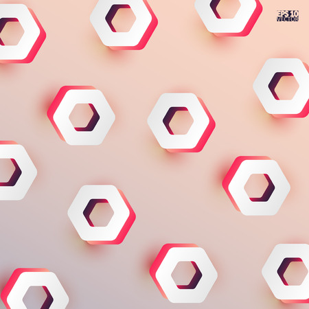 Modern background with 3d hexagons. Eps10 Vector illustration