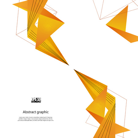 Fondo abstracto con polígonos modernos amarillos. Ilustración vectorial Eps10 Ilustración de vector