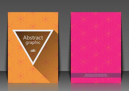 Flyer template with abstract background. Abstract background with geometric pattern. Illustration