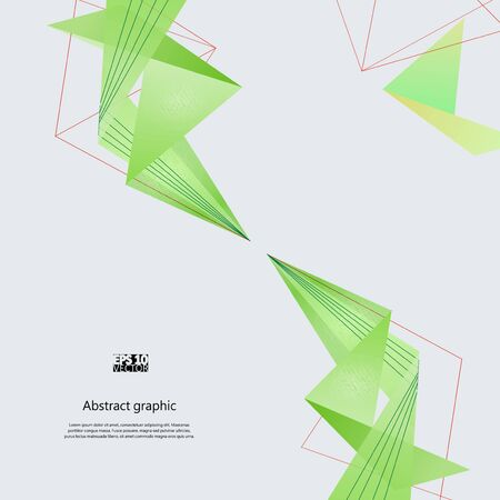 Abstract background with green modern polygons. Illustration