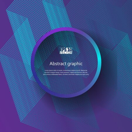 Graphic illustration with abstract background. Illustration