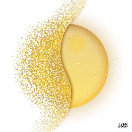 Circle shatter effect. Banner Explosion Simulation. Explode and destruction. Illustration