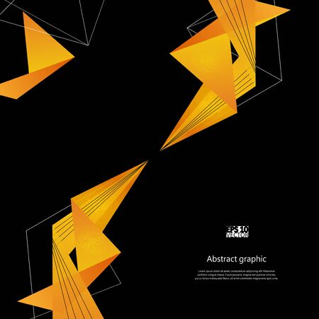 Abstract background with yellow modern polygons.