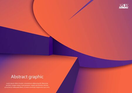 Abstract geometric shapes in circles with shadow.
