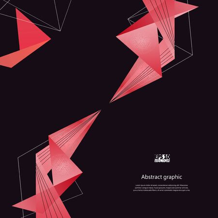 Abstract background with pink modern polygons.