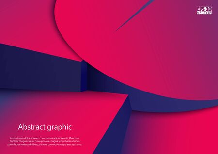 Abstract geometric shapes in circles with shadow. Eps10 Vector illustration. Illustration