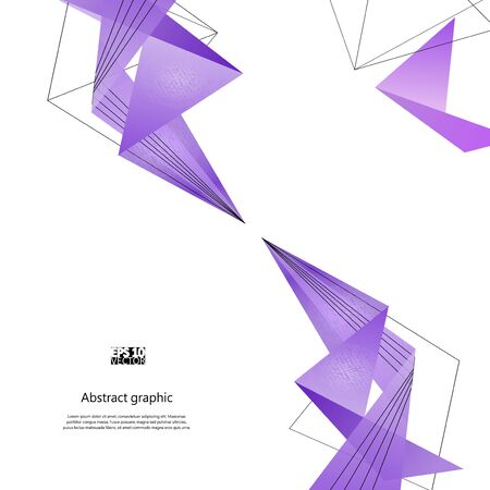 Abstract background with purple modern polygons. Eps10 Vector illustration