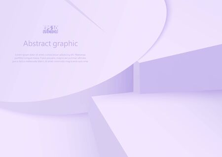 Abstract geometric shapes in circles with shadow. Eps10 Vector illustration. Иллюстрация