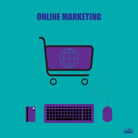 Online marketing concept illustration. Graphic illustration. Eps10 Vector illustration Иллюстрация