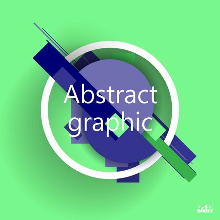 Abstract background with geometric elements. Eps10 Vector illustration.