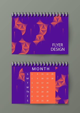 Graphic illustration with abstract background. Brochure template with abstract background. Eps10 Vector illustration.
