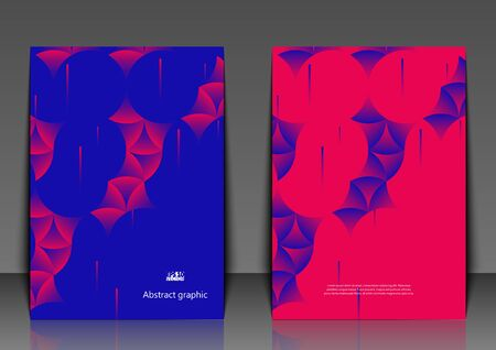 Graphic illustration with geometric pattern. Flyer template with abstract background.Eps10 vector illustration.