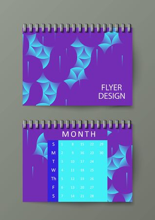 Graphic illustration with geometric pattern. Notebook template. Eps10 vector illustration. Illustration