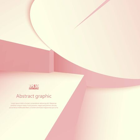 Abstract geometric shapes in circles with shadow. Eps10 Vector illustration. Stockfoto - 131857518