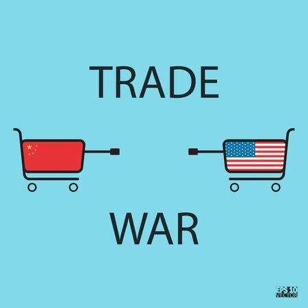 Trade war concept. Graphic illustration. Vector illustration.