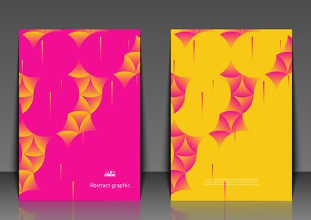 Graphic illustration with abstract background. Flyer template with abstract background. Eps10 vector illustration.