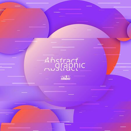 Colorful glitch circles, frame with neon glitch effect on gradient background. Eps10 Vector illustration Illustration