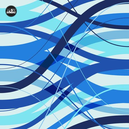 Abstract background with geometric pattern. Color band wave design. Eps10 Vector illustration Çizim