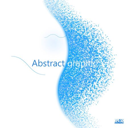 Circle shatter effect. Banner Explosion Simulation. Explode and destruction. Illustration isolated on white background. Illusztráció