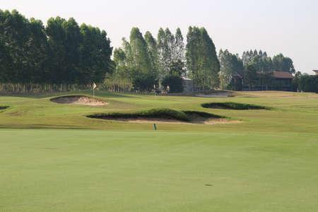 driving range: Golf driving range Stock Photo