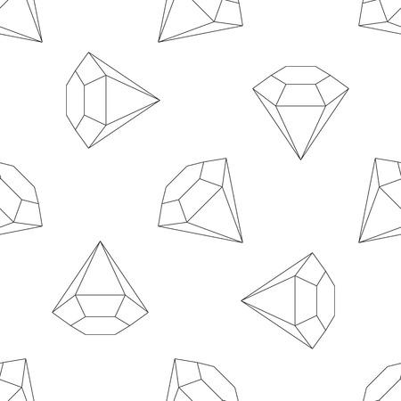 pietre preziose: Seamless minimalista sottile linea diamanti, pietre preziose, gioielli, pietre preziose modello