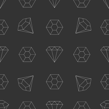 piedras preciosas: Seamless diamantes de l�nea, piedra preciosa, joya, patr�n de piedras preciosas delgada minimalista