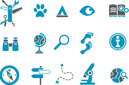 Exploration Icon - Vector icons pack - Blue Series