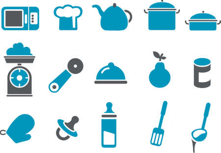 Vector icons pack - Blue Series, food collection Stock Vector - 4474677