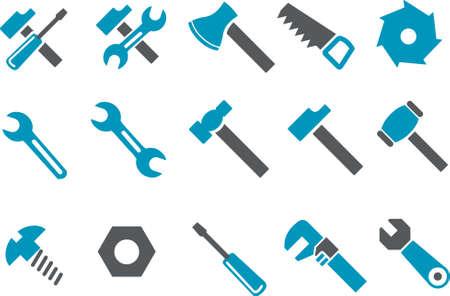 tornillos: Pack de iconos vectoriales - Serie Azul, herramienta de recolecci�n