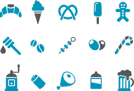 broach: Vector icons pack - Blue Series, food collection
