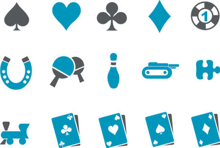 Vector icons pack - Blue Series, game collection Vector