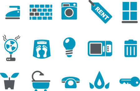 Vector icons pack - Blue Series, house collection Vector