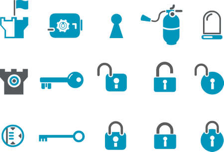 backsight: Vector icons pack - Blue Series, security collection