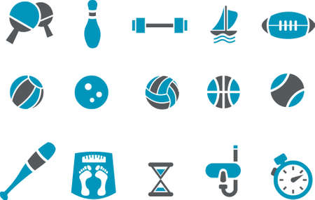 Vector icons pack - Blue Series, sport collection
