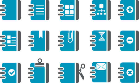 Vector icons pack - Blue Series, document collection Vector
