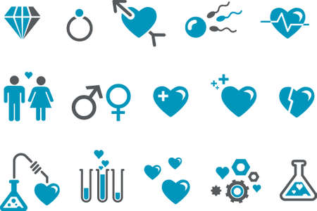 Vector icons pack - Blue Series, s.valentine collection Illustration