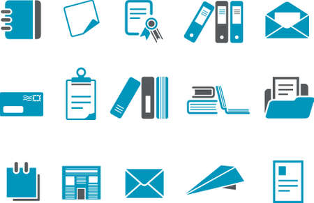 Vector icons pack - Blue Series, paper collection Vector