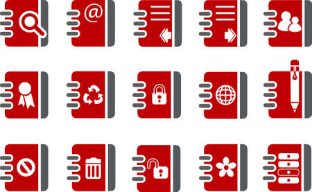 Vector icons pack - Red Series, document collection Vector
