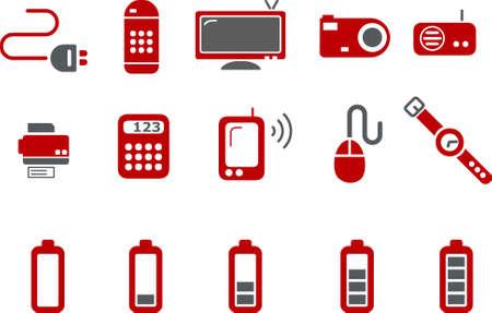 recarga: Iconos Vector pack - Serie Roja, cobro electr�nico de