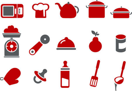 Vector icons pack - Red Series, food collection Stock Vector - 5057510