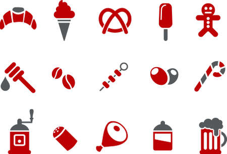icicle: Vector icons pack - Red Series, food collection