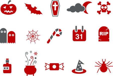 Vector icons pack - Red Series, halloween collection Stock Vector - 5057581